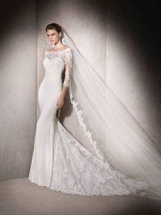 San Patrick by Pronovias · Wedding Dress Shop Ayrshire San Patrick, Pronovias Wedding Dress, Wedding Gowns, Lace Wedding, 2017 Wedding, Modest Wedding, Dresses Elegant, Beautiful Dresses, Mermaid Dresses