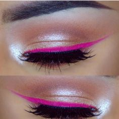 Bright Winged Liner - Click through to find out how to create beautiful, bright makeup looks that are wearable for everyday. In this post I teach 5 easy ways to add some colour to your makeup using eyeshadows, bright lipsticks and even blush. If you love bold colours these makeup looks are for you. #colourfulmakeup #creativemakeup #boldmakeup #brightlips #lipstick #eyeshadow #brightmakeup #howtowearcolour