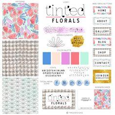Tinted Florals / Branding Kit / Branding / Logo / Website Design / Package / Business / Blog / Marketing / Brand / Stationary