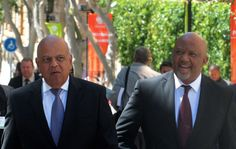 Minister of Finance Pravin Gordhan and his Deputy Minister Mcebisi Jonas going into Parliament to deliver the National Budget speech in Parliament, Cape Town. 24/02/2016 Kopano Tlape GCIS