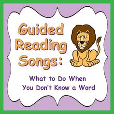 Guided Reading Songs / Common Core - Aligned, Learn guided reading strategies with Eagle Eye, Lips the Fish, Stretchy Snake, Chunky Monkey, Flippy Dolphin, Skippy Frog, and Tryin' Lion. Listen to song samples through the preview at: http://www.teacherspayteachers.com/Product/Guided-Reading-Songs-Common-Core-Aligned-HALF-OFF-FOR-2-DAYS-1492238