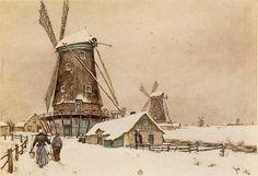 Hollands landschap in de winter, 1925, Tavik Frantisek Simon
