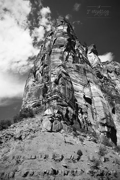 Zion is an art print of a rock formation in Zion National Park.