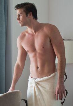 Liam Hemsworth Shirtless Paranoia Stills