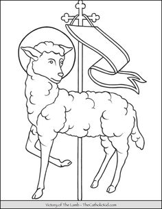 The Catholic Kid Catholic Coloring Pages And Games For Children Angel Coloring Pages, Coloring Pages For Kids, Coloring Books, Jesus Lamb, Cute Lamb, Catholic Mass, Games For Kids, Victorious, Moose Art