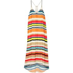 Alice + Olivia Cortes striped georgette midi dress (1.035 BRL) ❤ liked on Polyvore featuring dresses, maxi dresses, alice + olivia, alice and olivia, white, maxi dress, white maxi dress, stripe dresses, multi color maxi dress and loose maxi dress