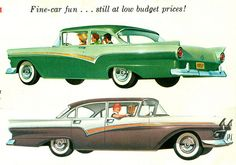 1957 Ford Custom 300 2 and 4 Door Sedan  by coconv, via Flickr