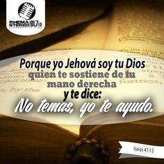 """""""Porque yo Jehová soy tu Dios, quien te sostiene de tu mano derecha, y te dice: No temas, yo te ayudo."""" Isaías 41:13  Nunca me sueltes Padre Eterno."""