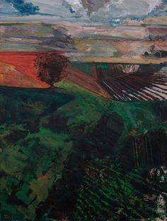 "Saatchi Art Artist Paul Peterson; Painting, ""Just Off 81/ Dakota Landscape Altered"" #art"