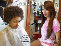 Pose de Mèches Brésiliennes sur cheveux afro