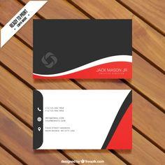 Modelo do cartão de visita Vetor grátis