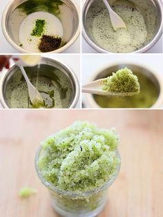 Сахарный скраб для тела с зеленым чаем