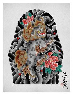Samurai Tattoo Sleeve, Tiger Tattoo Sleeve, Arm Tattoo, Japanese Back Tattoo, Japanese Tattoo Designs, Japanese Sleeve Tattoos, Foo Dog Tattoo Design, Japanese Foo Dog, Octopus Tattoos