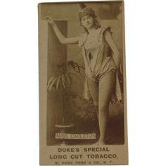Actress Tobacco Card Miss Carleton