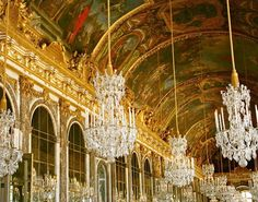 Hall of Mirrors  LOCATION: Versailles, France