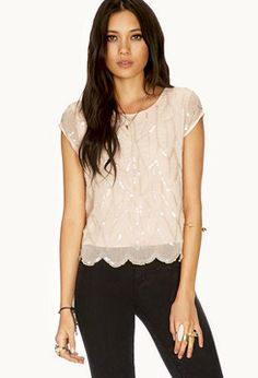 FOREVER 21 Dainty Sequined Blouse on shopstyle.com