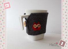Felt Cup Cosy Owl Coffee Cup Sleeve