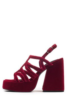 Jeffrey Campbell Shoes LELAINA Platforms in Red