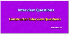 Constructor interview questions in java