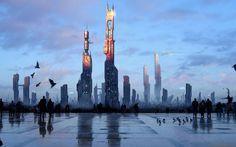 sci fi city - Google Search