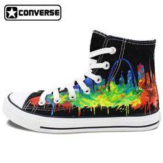 4925c3899ea1 Converse (Chuck Taylor s). Louis ShoesBlack High TopsHand ...