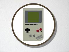 Counted Cross stitch Pattern PDF Gameboy by CharlotteAlexander, $4.00