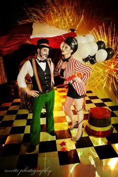 Circus Photoshoot - Ringmaster and Ringmistress