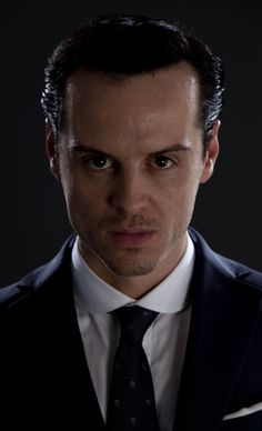 Andrew Scott as Moriarty - anyone who has Stayin Alive as a ringtone does not take life seriously