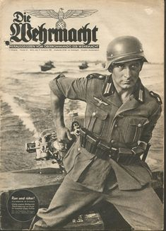 Die Wehrmacht as a German Military magazine, which was published from 1936 to promote the newly formed Wehrmacht up until it's cancellation in September 1944. Aimed at the younger reader, it cost a fair 25 Reichspfennig