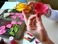 Роза из фоамирана часть 1