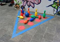 And Creative Ideas for School Gardens Playground Painting, Playground Games, Outdoor Playground, Games For Kids, Diy For Kids, Activities For Kids, Crafts For Kids, Outdoor School, Outdoor Classroom