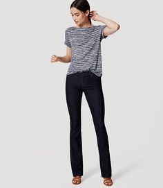 Petite Modern Bootcut Jeans in Dark Rinse Wash Business Casual Womens Fashion, Cool Style, My Style, Best Jeans, Jeans Pants, Fashion Beauty, Street Style, Stylish, How To Wear
