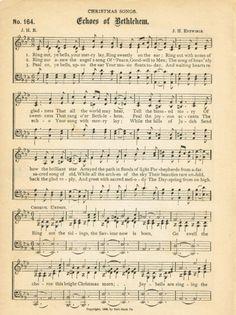 free antique Christmas sheet music - Echos of Bethlehem - KnickofTime.net