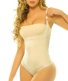 8525f255e83fa Siluet Nude Pompon Body Control Underbust Shaper Bodysuit - Women