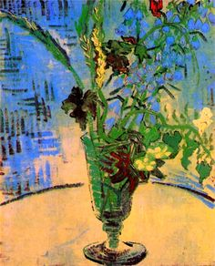 Vincent Van Gogh. Still Life: Glass with Wild Flowers (1890).
