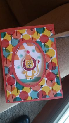 Bonanza Buddies Oval Window by LindaBabe - Cards and Paper Crafts at Splitcoaststampers Kids Birthday Cards, Stamping Up Cards, Mothers Day Cards, Ballon, Catalogue, Paper Cards, Kids Cards, Cool Cards, Creative Cards