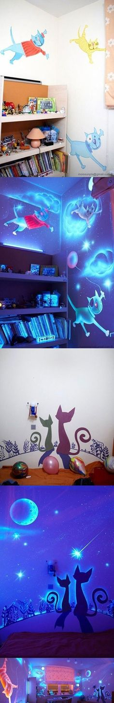 #kinderkamer #schilderen #glow-in-the-dark