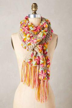 Anthropologie's New Arrivals: Winter Accessories - Topista Crochet Scarves, Knit Crochet, Knitting Scarves, Spring Scarves, Winter Accessories, Winter Trends, Winter Wear, Scarf Styles, Womens Scarves