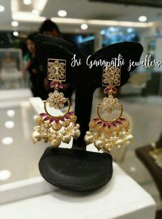 Big Fat Indian Wedding, Indian Wedding Jewelry, Indian Jewelry, Trendy Jewelry, Gold Jewelry, Jewelery, Fashion Jewelry, Expensive Jewelry, Ear Studs