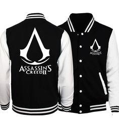 2017 new fashion Assasins Creed baseball jackets men women fitness funny tracksuits spring autumn unisex hip-hop sweatshirts mma