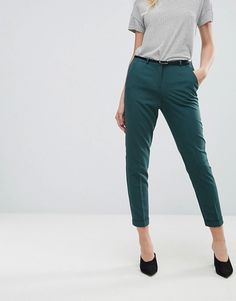 $40 - ASOS - The Slim Tailored Cigarette Pants with Belt