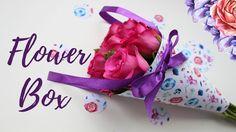 Diy flower box своими руками, кулек для цветов. Упаковка для цветов