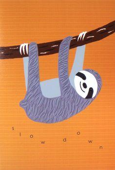 Sloth Illustration Print Sloth Digital Print Tropical by mikaart