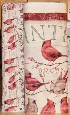 Susan Winget Cardinal Winter  Fabric SOLD SEPARATELY Springs Creative bty #SpringsCreative