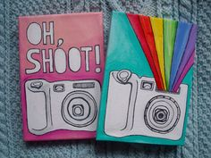 Camera Paintings on Mini Canvases