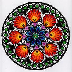 """Lowicz Wycinanki 8"""" - 20cm Floral Round"""