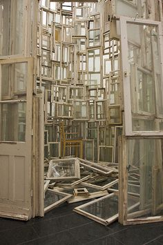 My brain feels like this on a daily basis.  It's called ADHD.        (art installation by Chiharu Shiota)