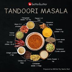 Tandoori masala is one of the most popular spices used in Indian cooking. Specially used while preparing the classic Tandoor dishes, this masala is all you need to add the much-needed spice! Masala Powder Recipe, Masala Recipe, Homemade Spices, Homemade Seasonings, Masala Spice, Tandoori Masala, Masterchef, Indian Dessert Recipes, Veg Recipes