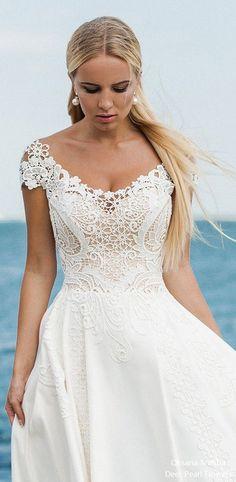 Oksana Mukha 2018 Wedding Dresses / http://www.deerpearlflowers.com/oksana-mukha-wedding-dresses-2018-2/2/ #weddingdress