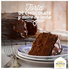 Torta de #chocolate y dulce de leche